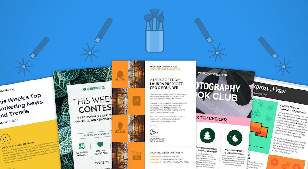 45 fesselnde E-Mail-Newsletter-Vorlagen, Entwurfstipps und Beispiele für 2019